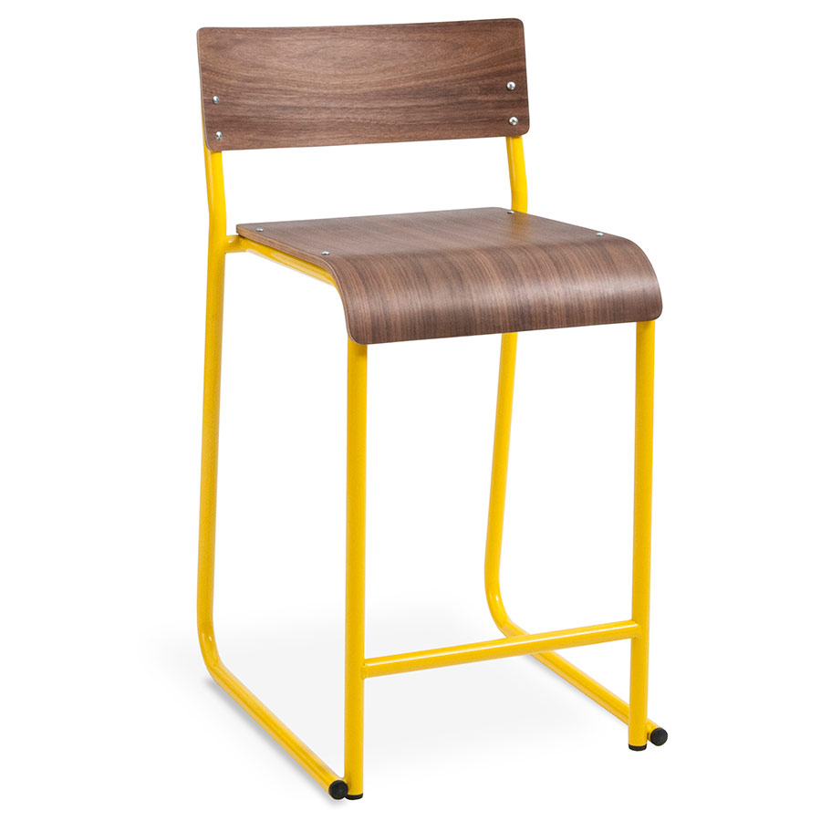 Peachy Church Counter Stool Canary Walnut Gamerscity Chair Design For Home Gamerscityorg