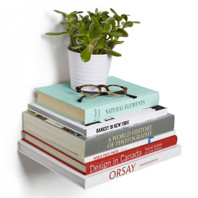 Conceal Large Hidden Wall Mount Book Shelves By Umbra