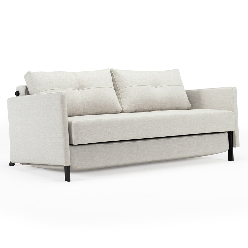 Cubed Full Sleeper Loveseat w/ Arms | Natural