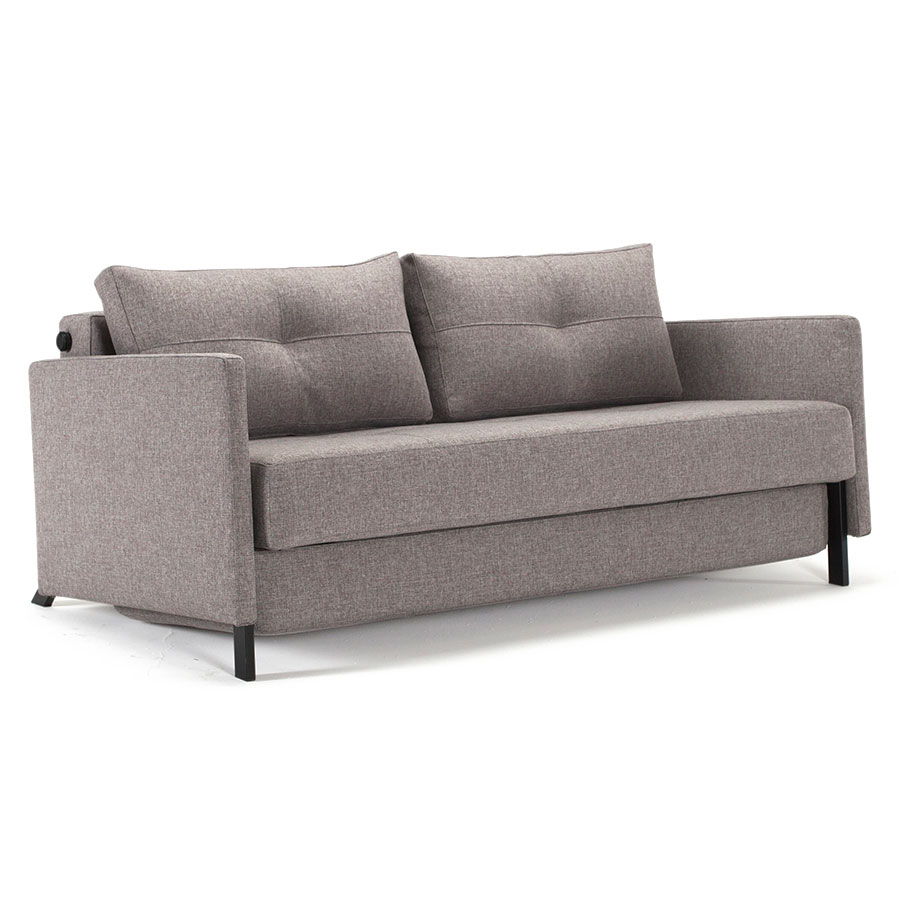 CUBED QUEEN SLEEPER W/ ARMS | GREY
