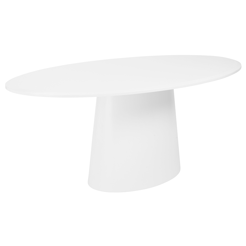 Deodat 79x43 Oval Dining Table Matte White
