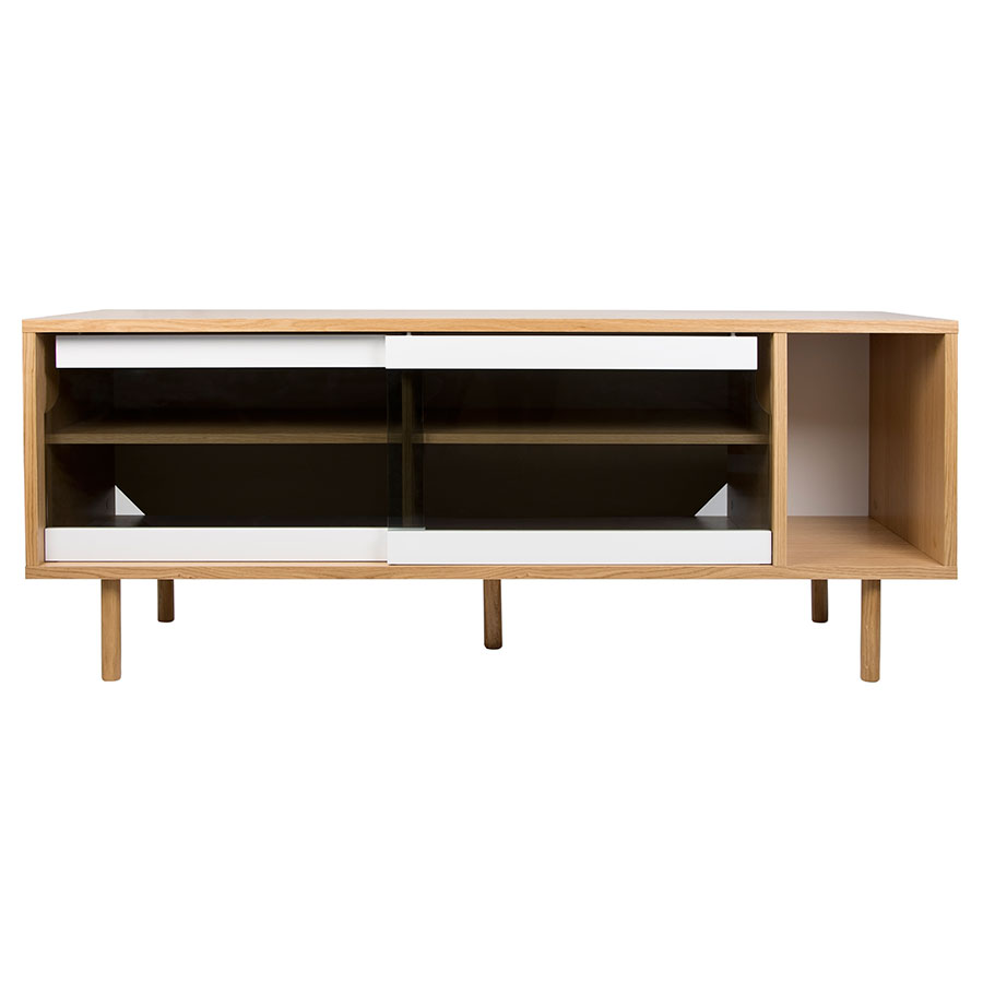Dann Oak Glass Contemporary Sideboard by TemaHome  a38953a6d