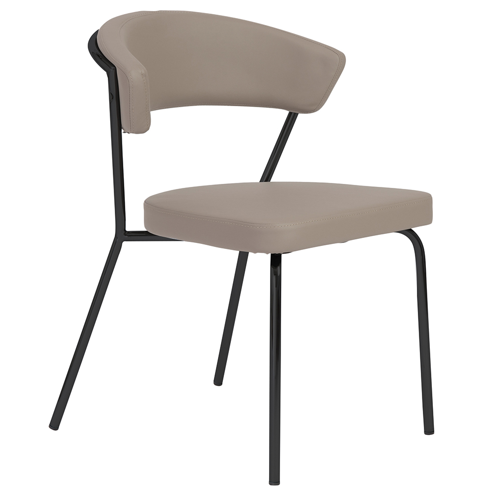 Draco Taupe + Black Dining Chair By Euro Style   Eurway