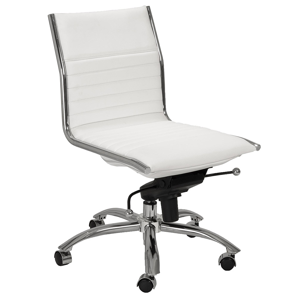 Dirk Armless Low Back Office Chair White