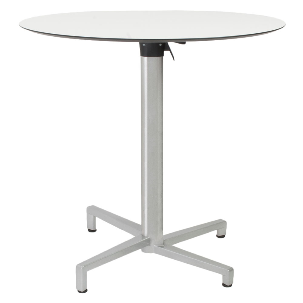 - Domino Round Silver Folding Table By Euro Style Eurway