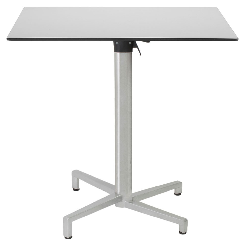 - Domino Square Silver Folding Table By Euro Style Eurway