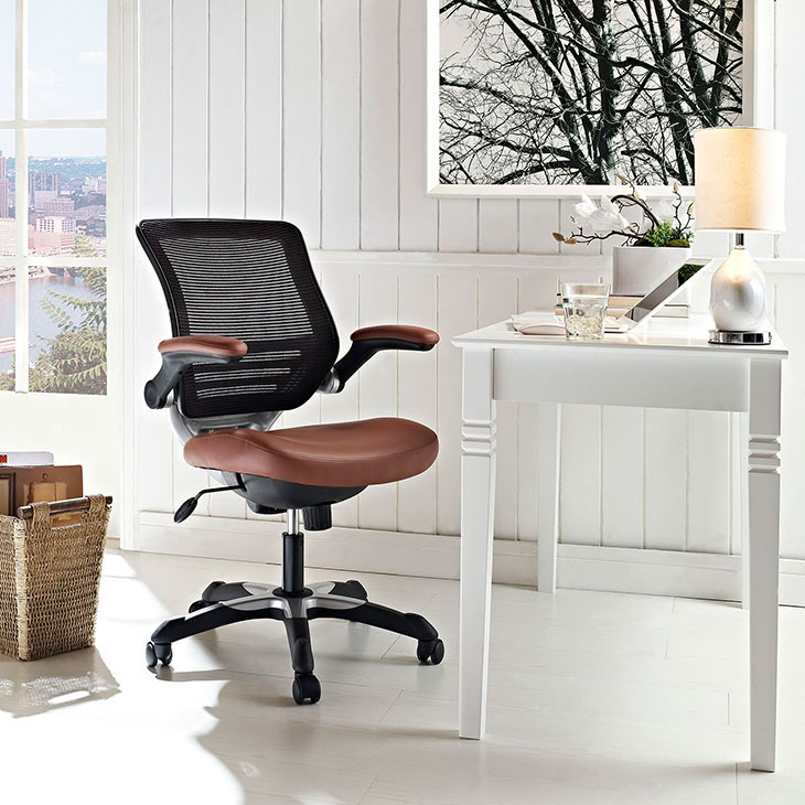 Super Ede Leatherette Office Chair Tan Lamtechconsult Wood Chair Design Ideas Lamtechconsultcom