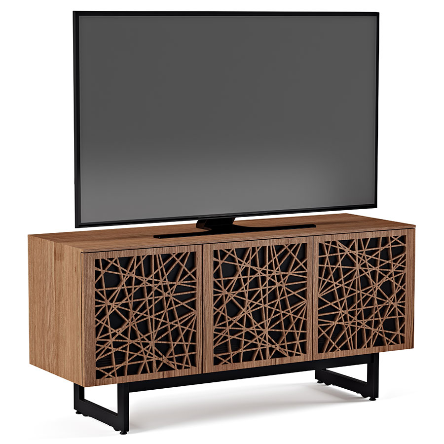 Bdi Elements 3 Door Laser Cut Modern Tv Stand Eurway