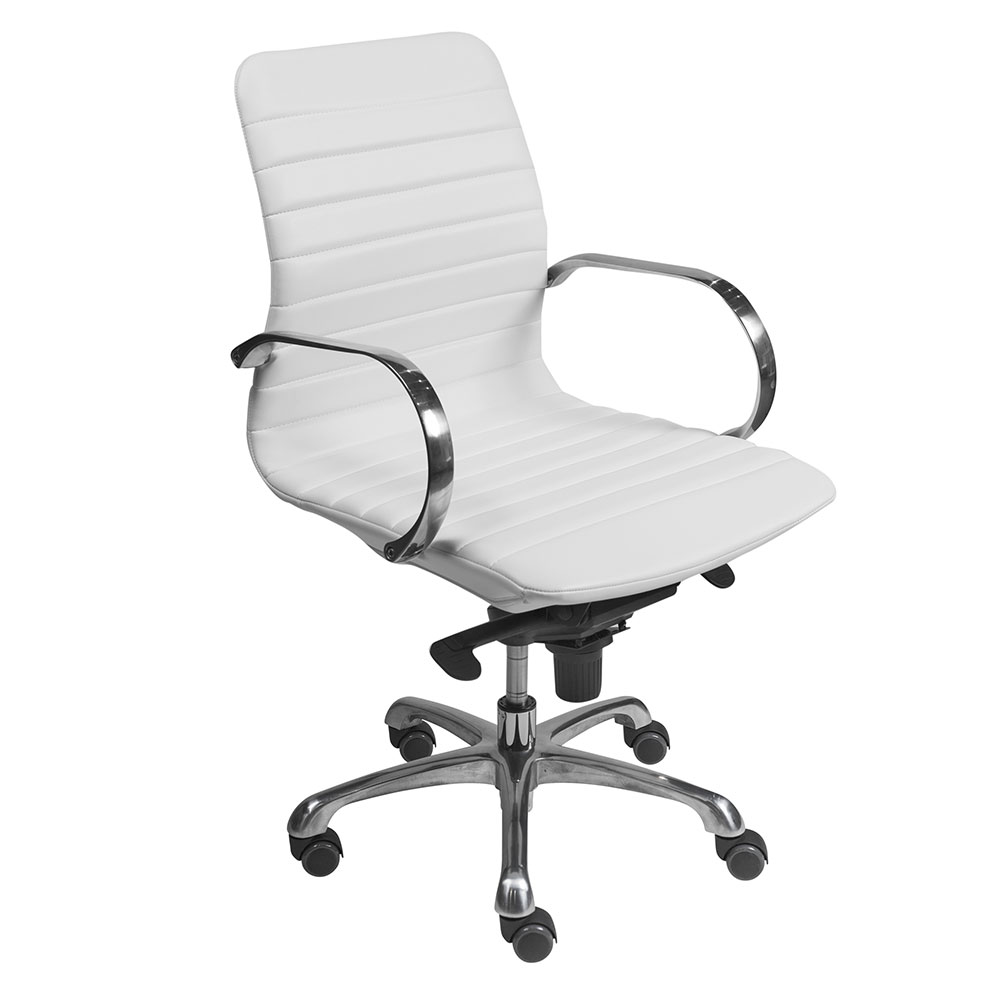 Everett modern white office chair by euro style eurway
