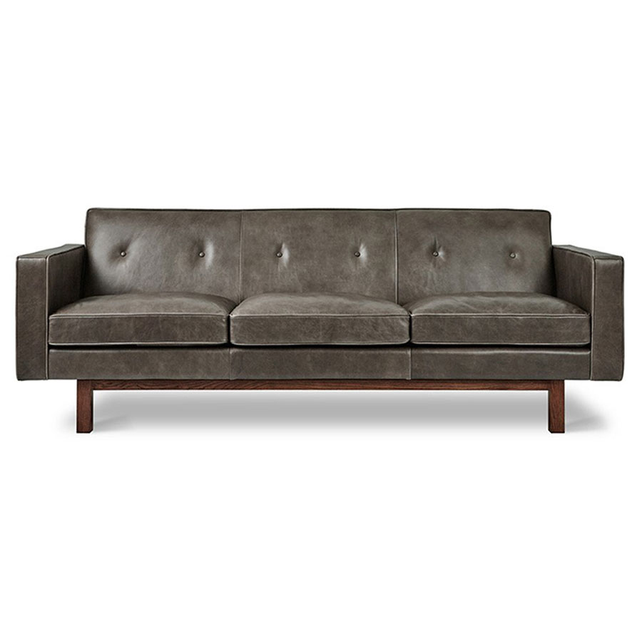 - Gus* Modern Embassy Saddle Gray Leather Sofa Eurway