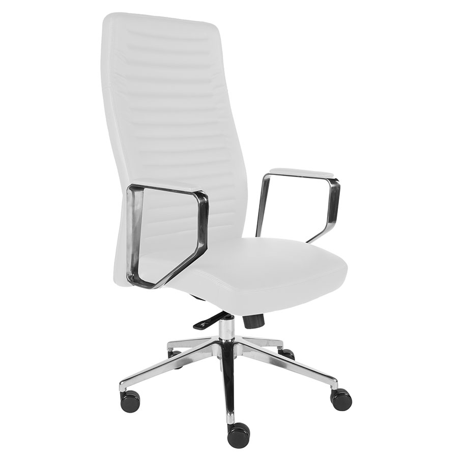 Emory High Back Office Chair | White