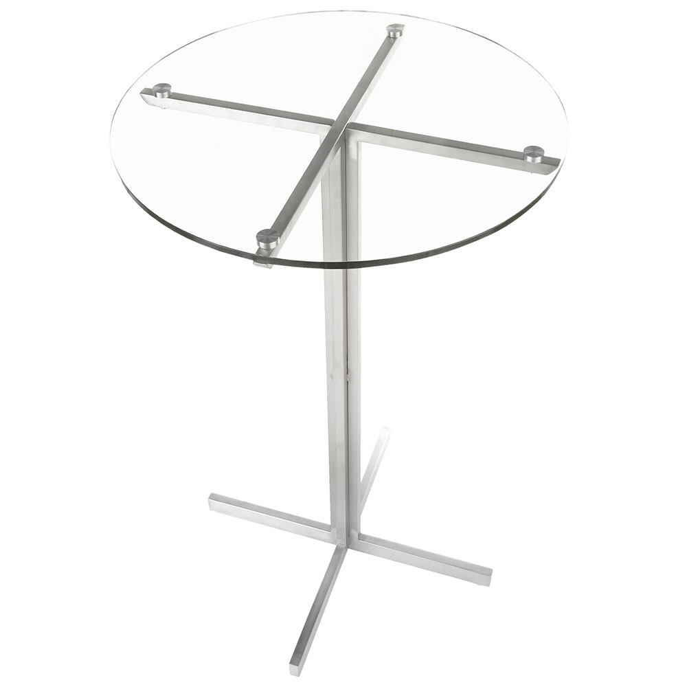 Finland Round Bar Table | Glass