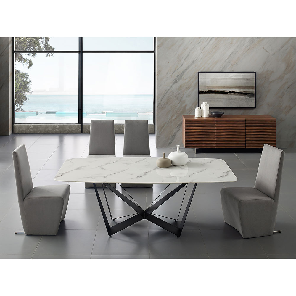 Florstadt Rectangle Dining Table | Marble