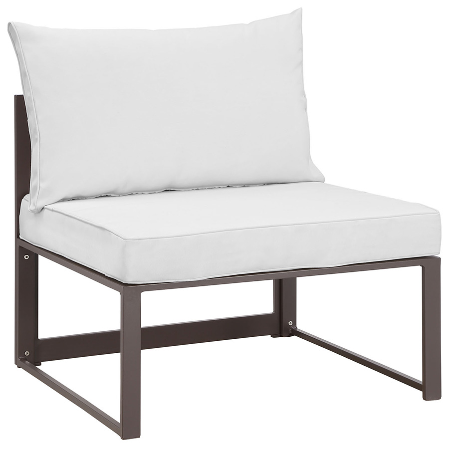 Fontana brown white outdoor armless chair eurway