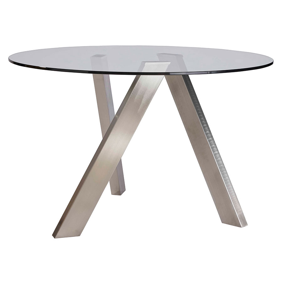 Brushed Base Modern Dining Table