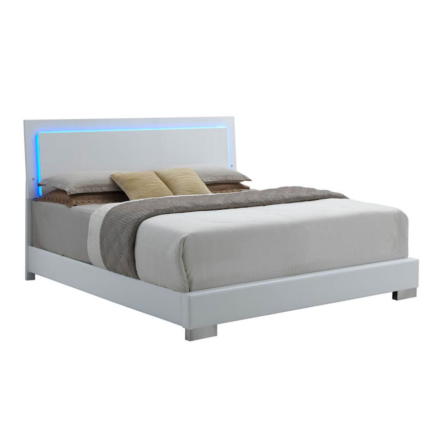 . Fredrika Bed   Lighted Headboard