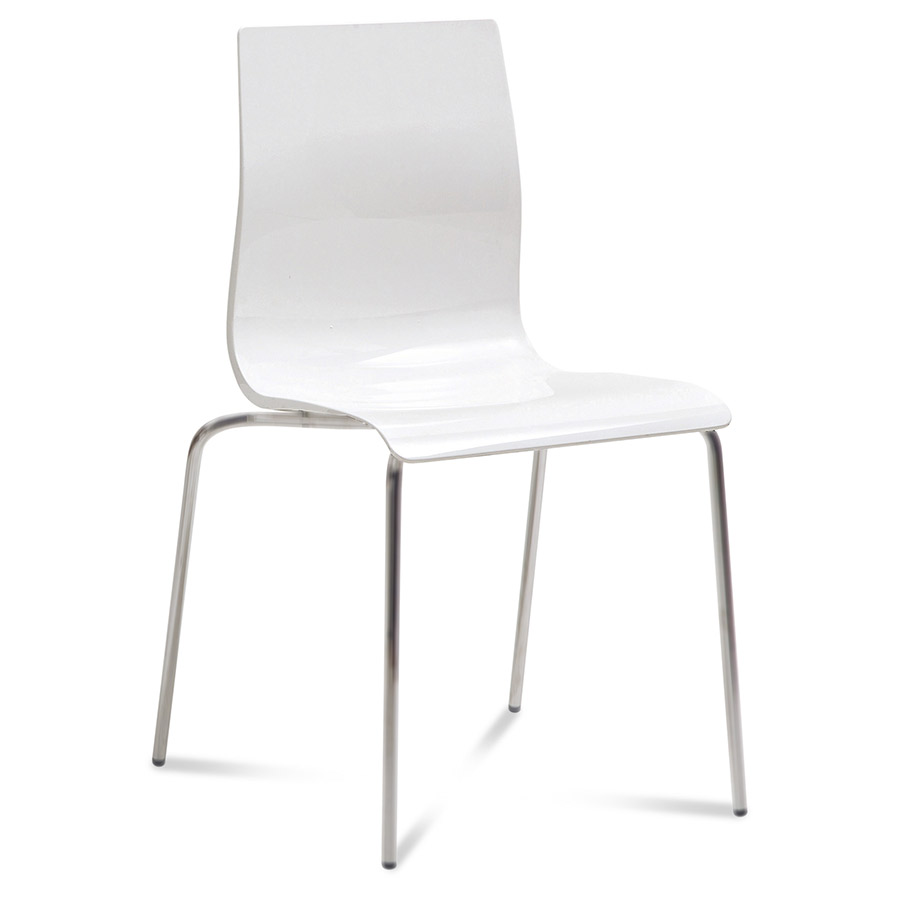 Gel B Modern White Dining Chair By Domitalia | Eurway