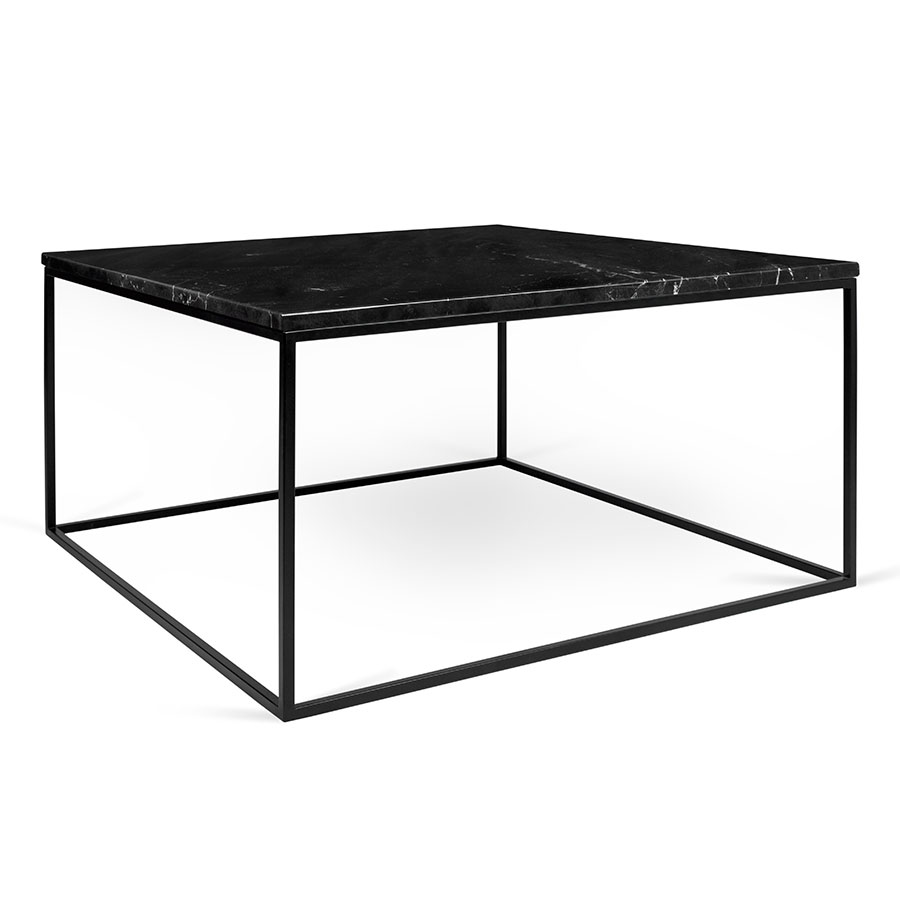 Gleam Modern Black Marble Coffee Table