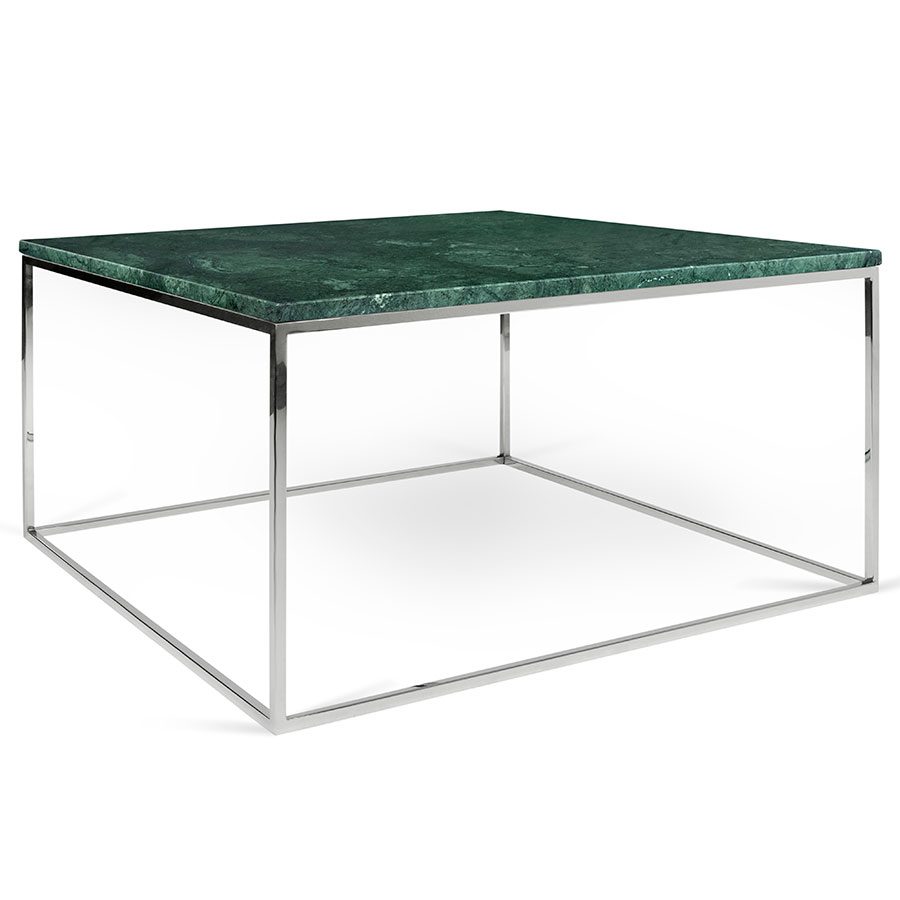 Gleam Green Marble + Chrome Coffee Table By TemaHome | Eurway