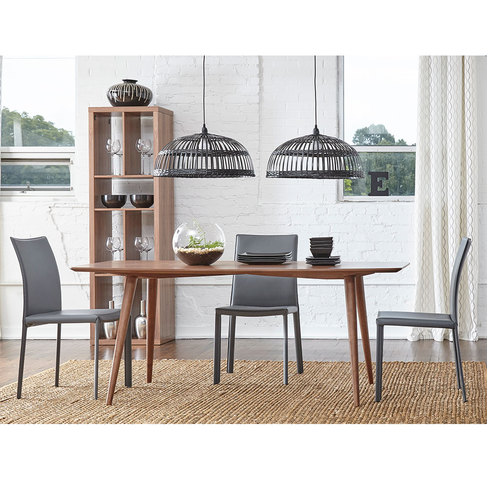 Hasina Dining Chair | Gray | Set of 2