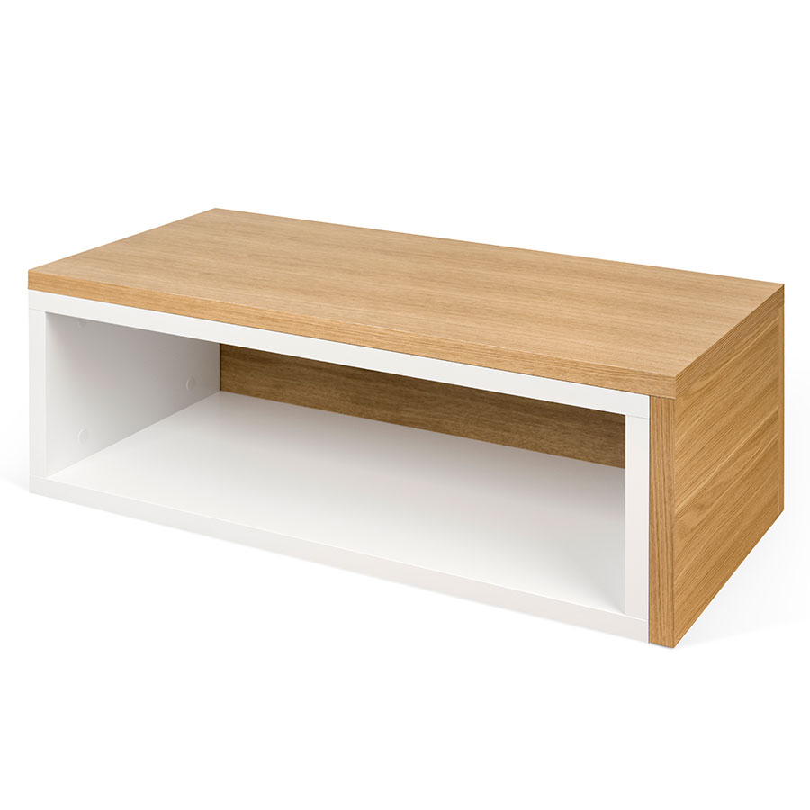Charmant Jazz White + Oak Modern Coffee Table By TemaHome | Eurway