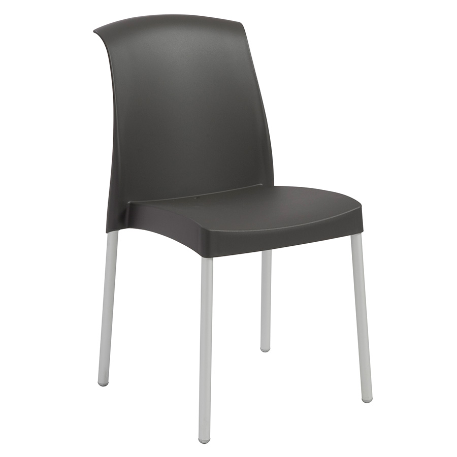 Jenny Anthracite Modern Stacking Chair | Eurway