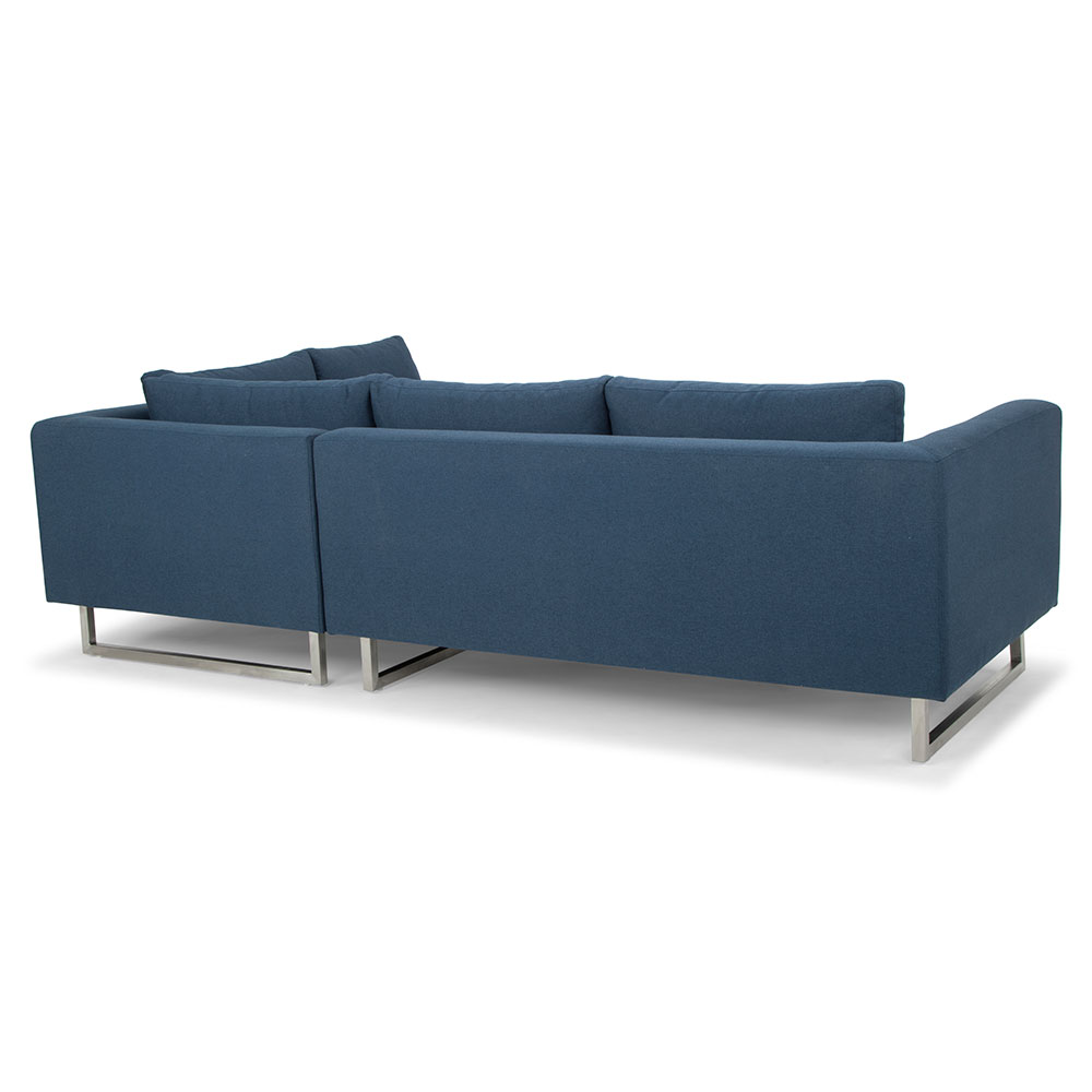 Janis Right Facing Lagoon Blue Sectional Sofa by Nuevo | Eurway