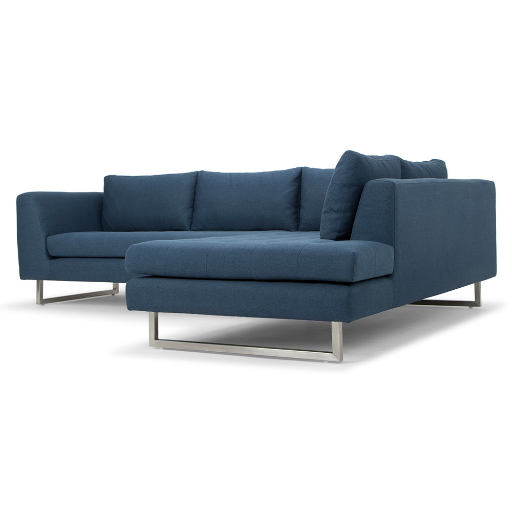 Janis Right Facing Sectional Sofa | Lagoon Blue