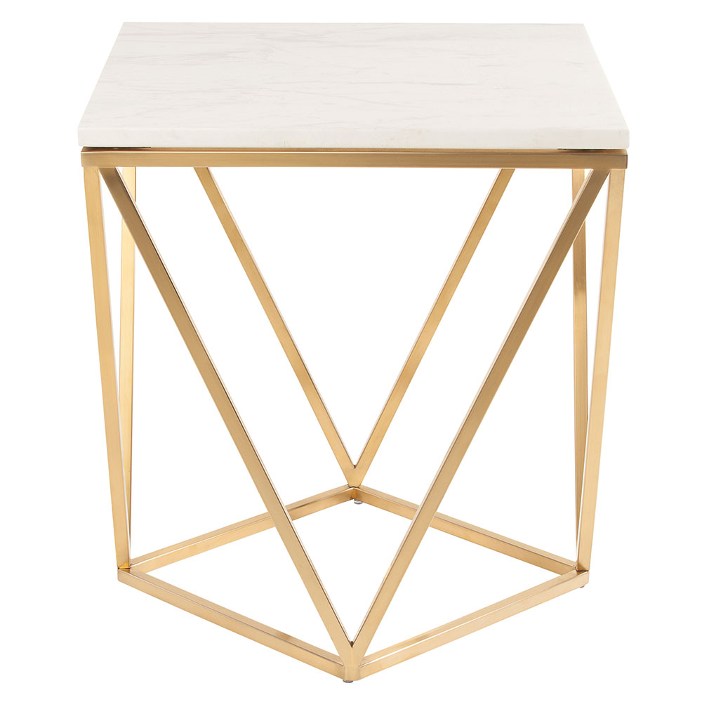 Joshua Side Table White Gold