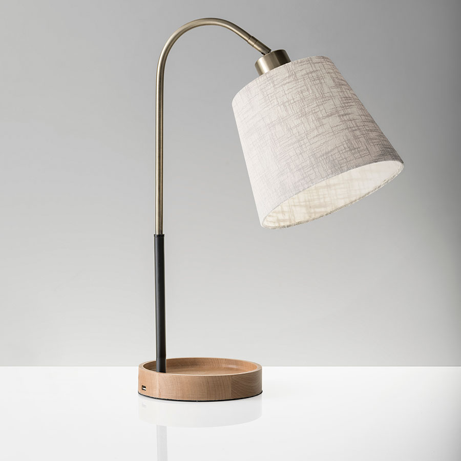 Modern Table Lamps With Usb Lamp Decorating Ideas
