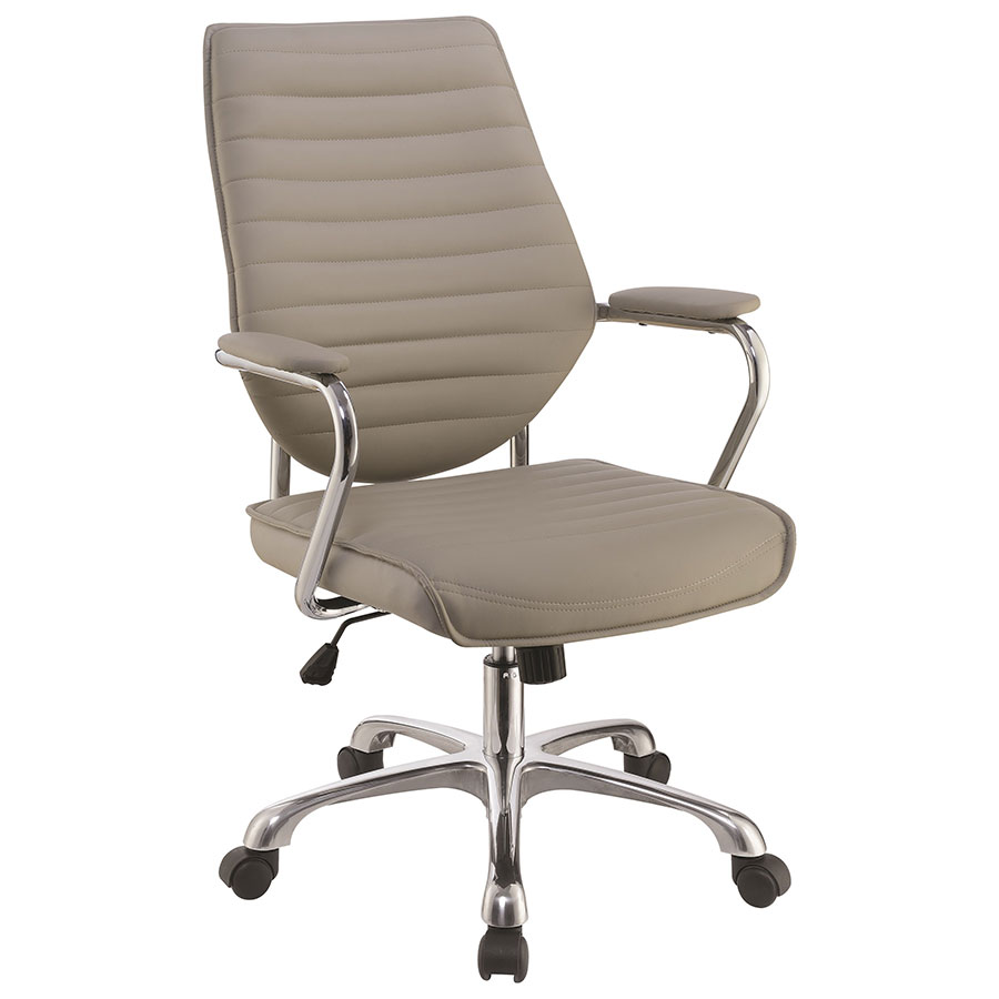 Modern Office Chairs | Kimball Taupe Office Chair | Eurway