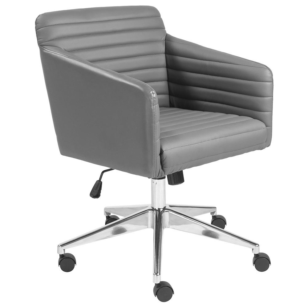 Kris Gray Faux Leather Office Chair By Euro Style Eurway