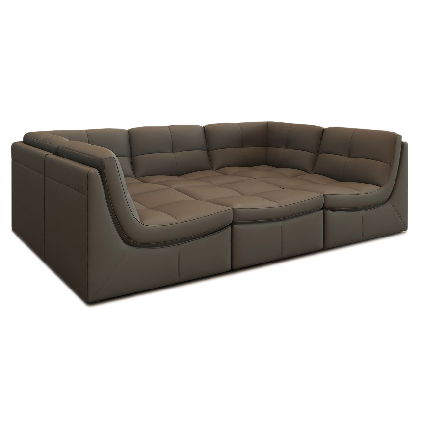 Lexicon 6pc Modular Seating Group Gray