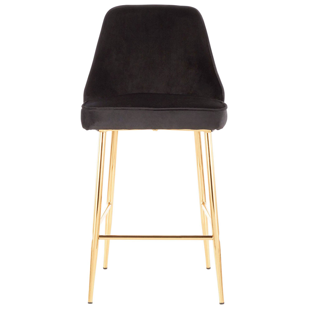 Groovy Malta Counter Stool Black Gold Set Of 2 Unemploymentrelief Wooden Chair Designs For Living Room Unemploymentrelieforg