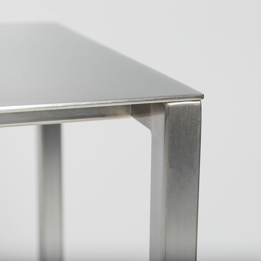 Montclair Small Console Table | Brushed Aluminum