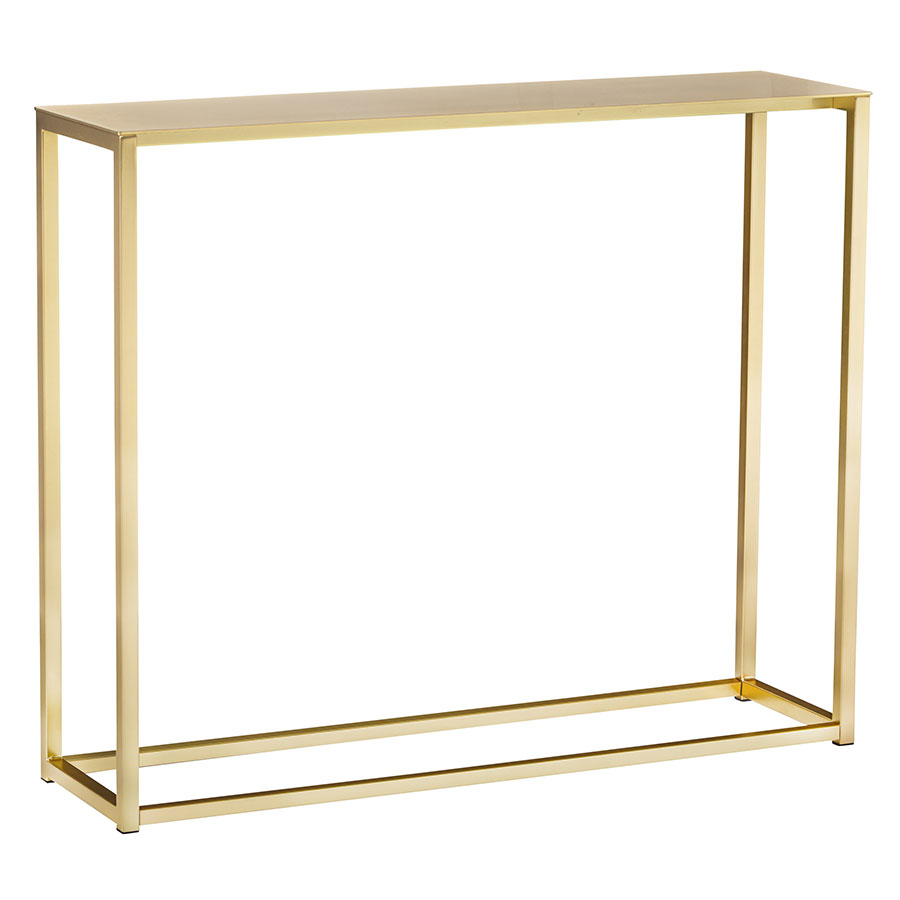 Montclair Small Console Table | Brushed Gold
