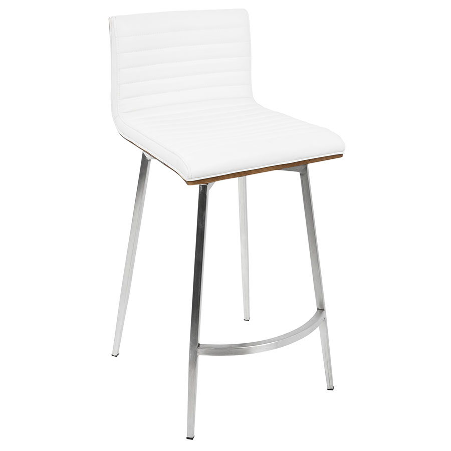 Outstanding Marvin Swivel Counter Stool White Set Of 2 Theyellowbook Wood Chair Design Ideas Theyellowbookinfo