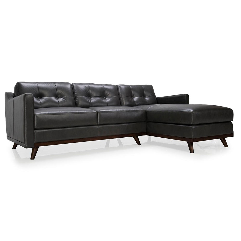 Melanie Sectional | Charcoal