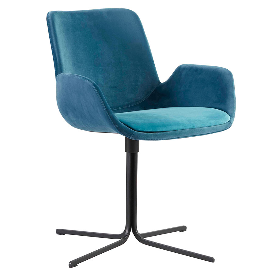 Malory Swivel Chair | Blue | Set Of 2