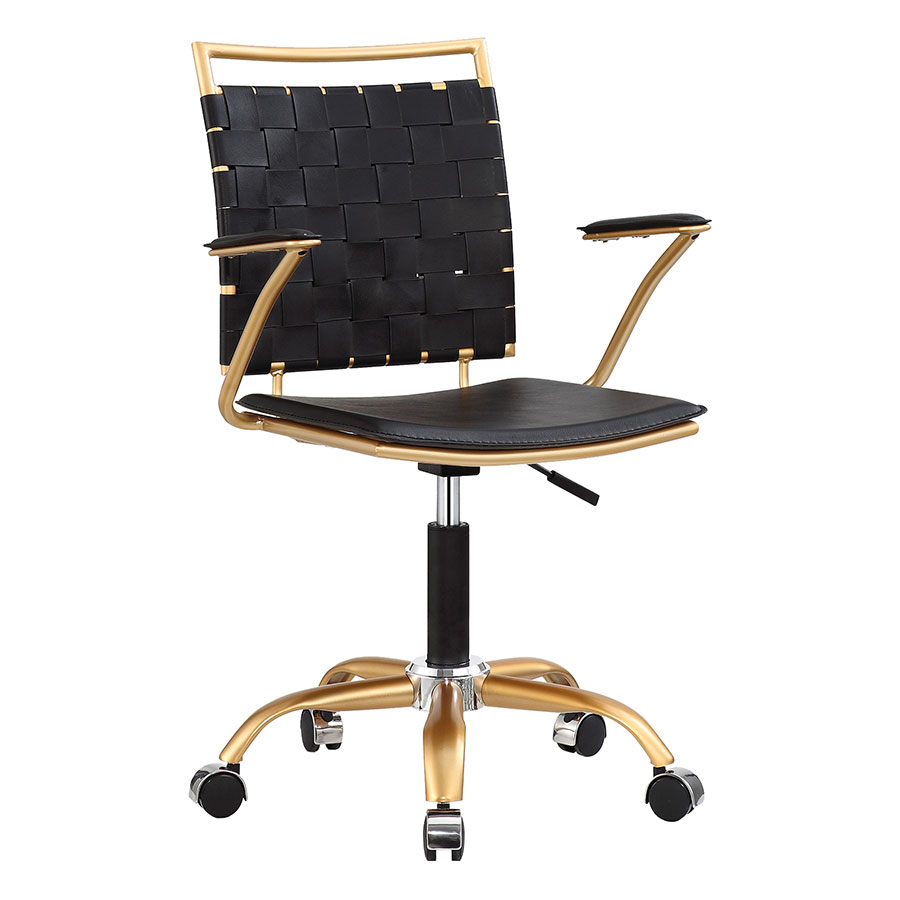 Murdoch Black Modern Office Chair | Eurway Furniture