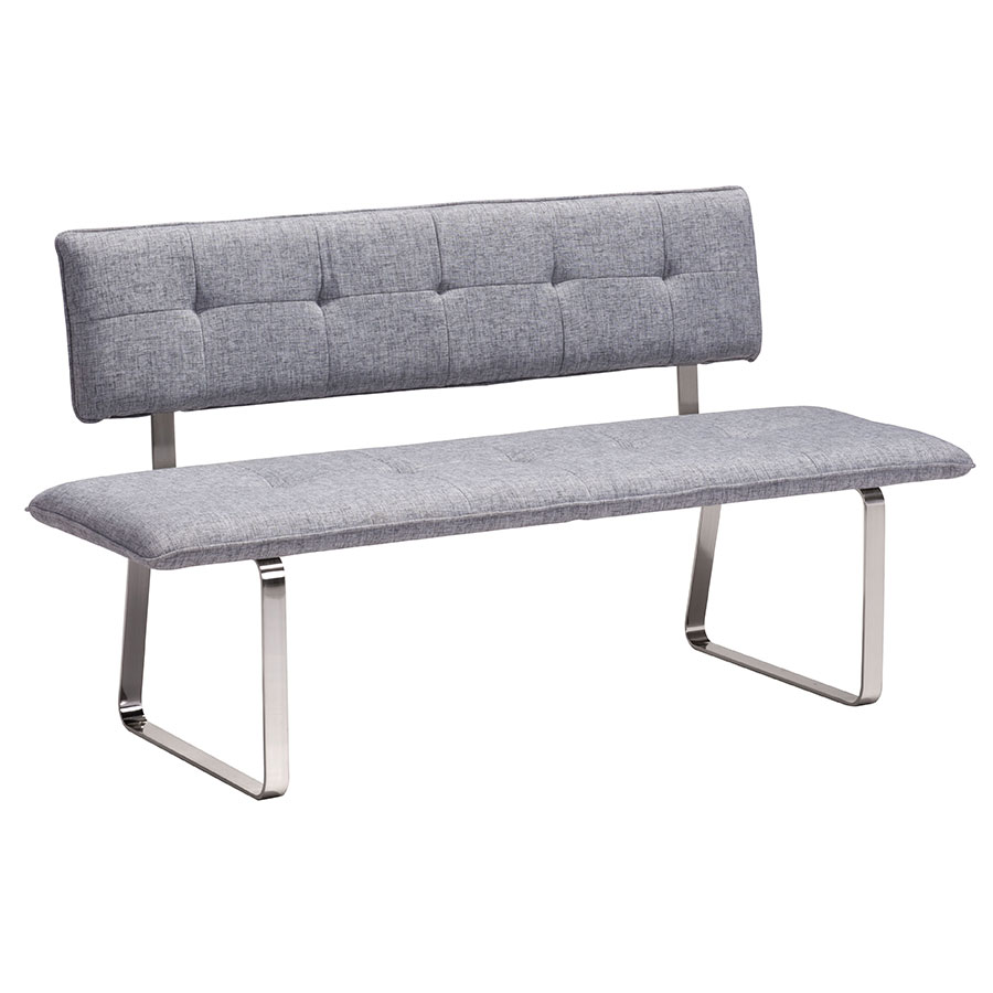 Astounding Nadia Dining Bench Gray Gmtry Best Dining Table And Chair Ideas Images Gmtryco