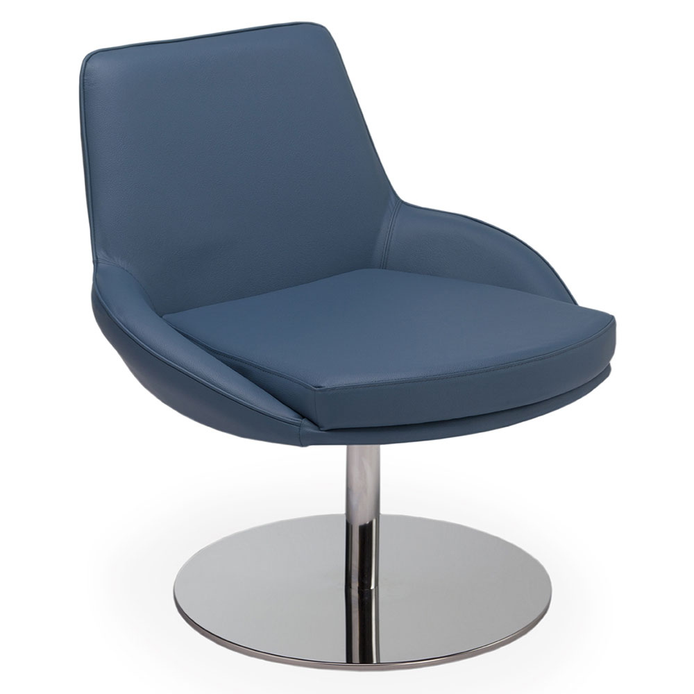 Modern Chairs | Ou0027brien Blue Leather Chair | Eurway