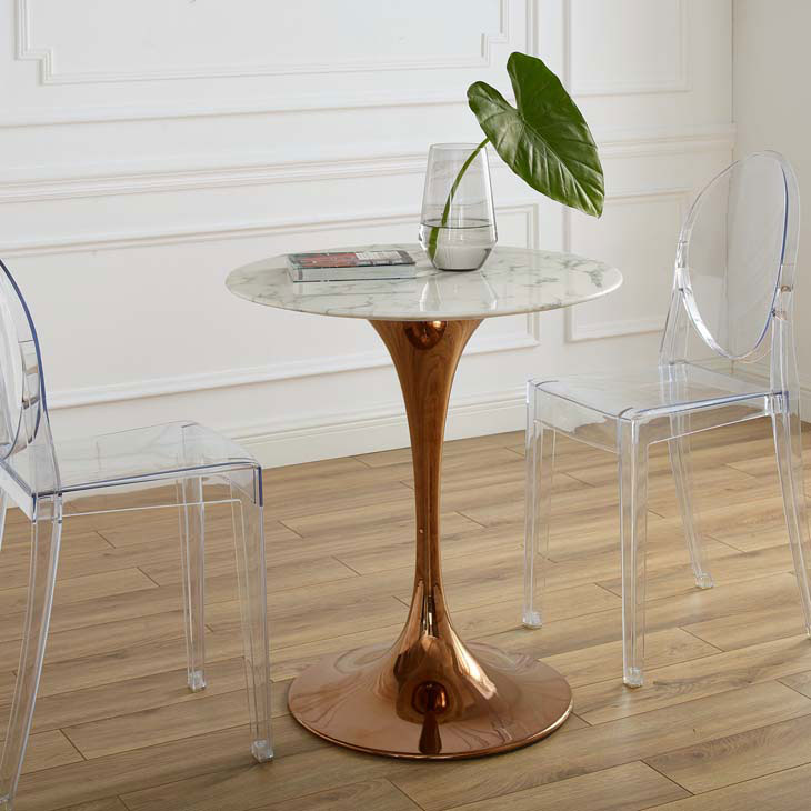 Odyssey 28 Round Rose Gold Faux Marble, 28 Round Table