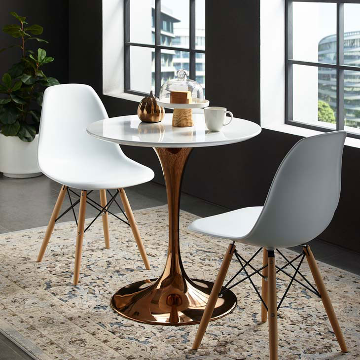 Rose Gold Dining Table, 28 Round Table