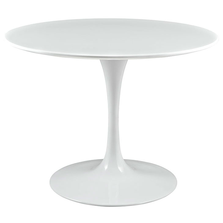Odyssey 40 Round White Wood Top Dining, 40 Round Pedestal Table