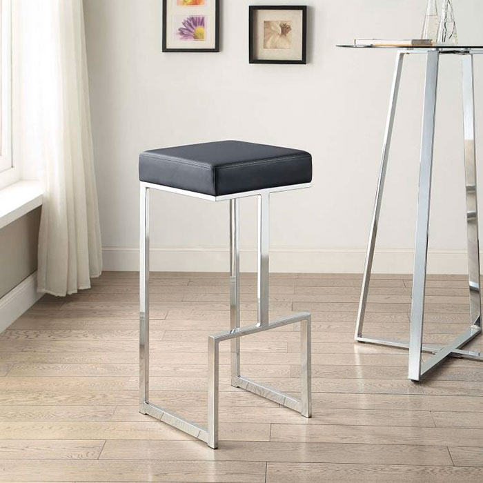 Modern Bar Stools Orly Black Bar Stool Eurway