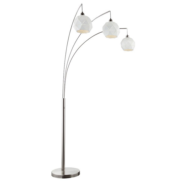 Panda 3 Light Arc Floor Lamp
