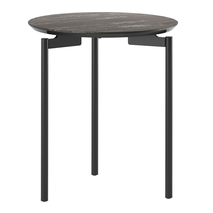 Ceramic Round Modern End Table By Bdi