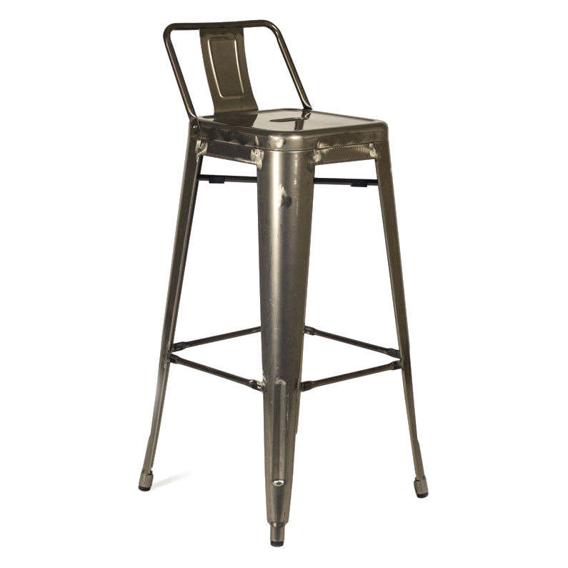 Superb Raleigh Low Back Bar Stool Gun Metal Set Of 2 Andrewgaddart Wooden Chair Designs For Living Room Andrewgaddartcom