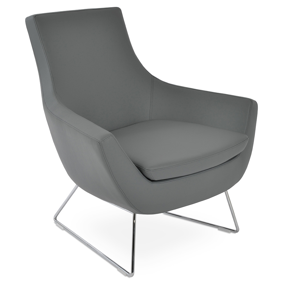 Remarkable Rebecca Arm Chair Chrome Wire Base Gray Leatherette Lamtechconsult Wood Chair Design Ideas Lamtechconsultcom